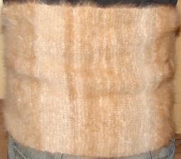 Пояс из собачьей шерсти, прядение