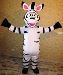 Ростовая кукла (костюм) Зебра Мадагаскар, продаем! В наличии!