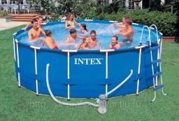Каркасный бассейн intex - 54952, фильтр, лестница, тент, видео
