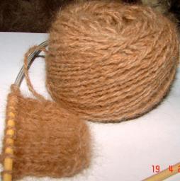 Пряжа из пуха рыжего сенбернара для вязания шарфов, свитеров, кардиганов