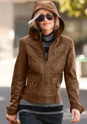 Кожаная куртка, цвет коричневый, бренд CHEER, Германия по самым низким ценам!
