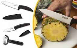Набор из 2-х керамических ножей и овощечистки Kenji Knife (Кенджи Кнайф)