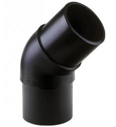 Отвод 45º удлинённый из ПЭ100