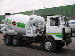 Автобетоносмеситель АБС-7 на шасси МАЗ-6303А5 (Тигарбо)