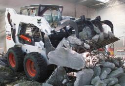 Навесное оборудование Bobcat - промышленный ковш с захватом