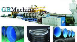 Линия для изготовления двухслойной гофрированной трубы из PE/PVC (ПНД/ПВХ)