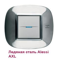 Рамка Bticino HB4802AXL1 Ледяная сталь Alessi - AXL