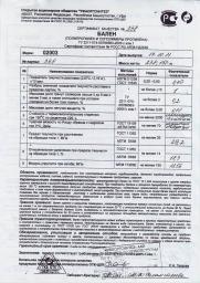 Полипропилен (Бален) 02003 производства ПАО «Уфаоргсинтез»