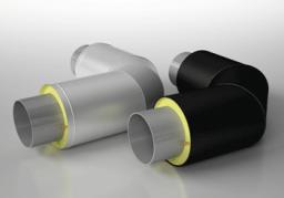 Отводы теплогидроизолированные ППУ ОЦ ГОСТ 30732-2006