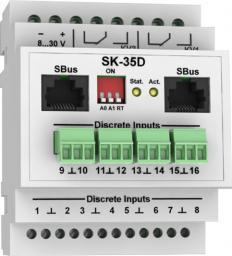 SK-35D - модуль контроля дискретных входов с возможностью работы по ModBus