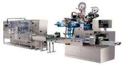 Автоматическое оборудование для производства и упаковки влажных салфеток (5-20 шт/упаковка) CYQ-40