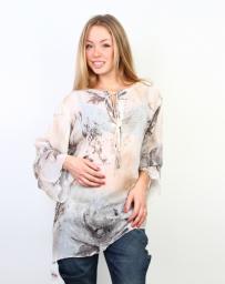 Блузка женская бежевая свободного кроя