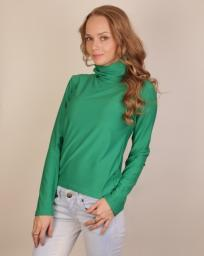 Водолазка женская зеленого цвета