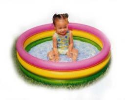 Детский надувной бассейн Радуга средний