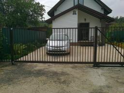 Прозрачные откатные ворота