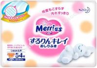 Merries Влажные салфетки запасной блок 54 шт (розовые) с рождения