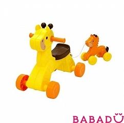 Детская каталка Жираф и детеныш