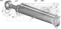 Гидроцилиндр отвала ГЦ-100х63х800.11 Т-170