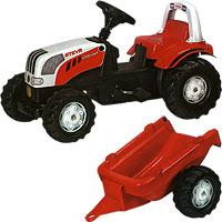 Трактор STEYR с прицепом
