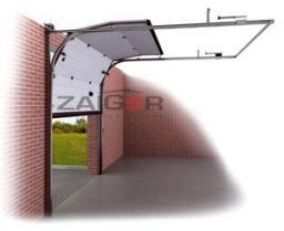 Секционные ворота Zaiger высота 2300 ширина 2700 для высоких потолков