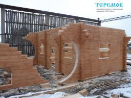 Строительство бани из профильного бруса
