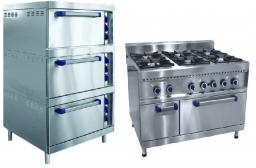 Газовые плиты и шкафы жарочные