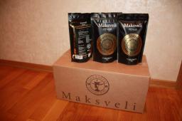 100% натуральный растворимый сублимированный кофе Maksveli