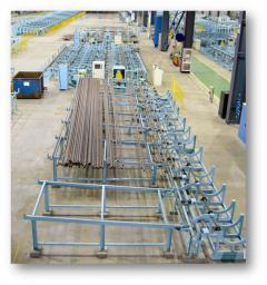 Линия для предварительной обработки торцов трубы