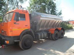 КДМ ЭД-405 на шасси КамАЗ-65115 (ПС (нерж)) + комбинированный и средний отвал + щетка
