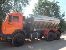 КДМ ЭД-405 на шасси КамАЗ-65115 (ПС (нерж)) + передний и средний отвал + щетка