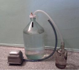 Устройство АУНЖ-1 для перекачки агрессивных жидкостей из бутыль и канистр
