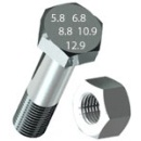 Болт DIN 931 8.8 (цинк) 10х60