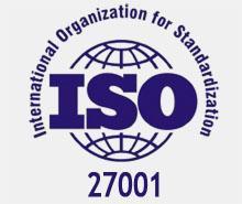 Сертификат ISO 27001:2005 система менеджмента управления информационной безопасностью.