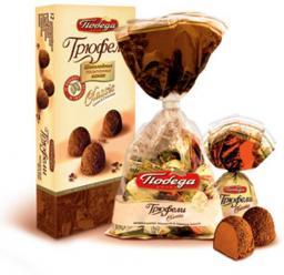 Трюфели шоколадные, 180 гр. Победа