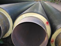 Стальные трубы в изоляции ППУ (пенополиуретановая изоляция) диаметрами 57–720 мм., для надземной и подземной прокладки трубопроводов отопления, теплоснабжения рабочей температурой 130 С., в оболочке из оцинкованной стали для наружной прокладки теплосетей