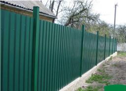 Заборы, ограды из профнастила в Хабаровске