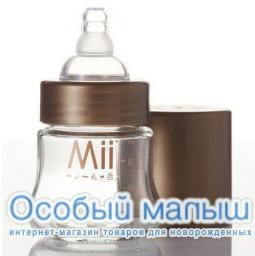 Бутылочка Mii 118 мл, стекло, 0-3 мес.