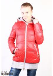Куртка женская красная с двойным сквозным замком-молнией
