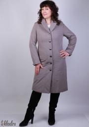 Куртка женская серого цвета удлиненного приталенного кроя