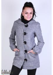 Пальто женское короткое с капюшоном