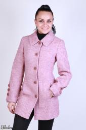 Пальто женское с отложным воротником и втачными карманами