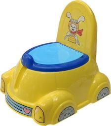 Машинка с крышкой, желтая Marianplast