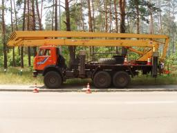 Аренда автовышки 28 метров камаз вездеход