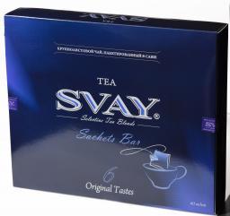 Чай крупнолистовой SVAY упакован в элегантные и удобные шелковые саше для заваривания в чашке.
