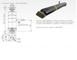 Гидроцилиндр КАМАЗ 65115,65111
