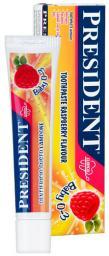 Зубная паста PresiDent - Baby для детей 0-3 лет Малина, 30 мл