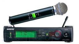Микрофон SHURE SLX24/BETA58 проф.радиосистема.магазин.
