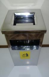 Урна-пепельница квадратная УК-1 (250х600)
