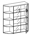 Шкаф со стеклом левый Тайм