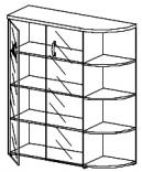 Шкаф со стеклом правый Тайм